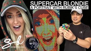 SUPERCAR BLONDIE PORTRAIT WITH RUBIK'S CUBE | @Supercar Blondie | MY aLTeR eGo