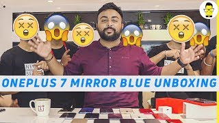 OnePlus 7 Mirror Blue Unboxing ft. all OnePlus phones launched till date