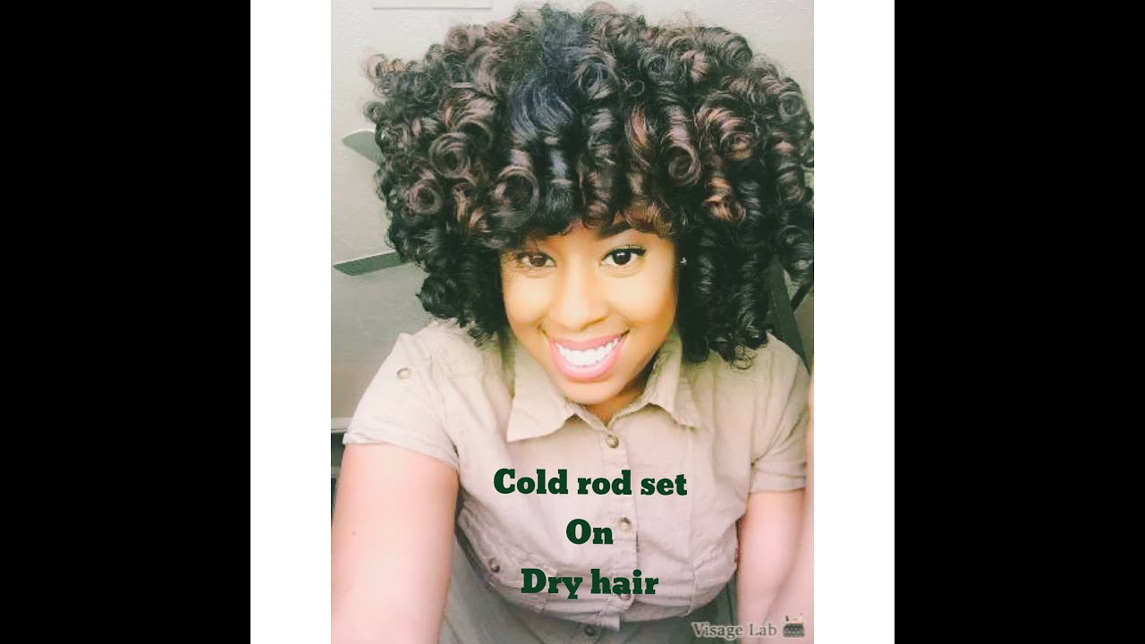 Cold Wave Rods On Short Natural Hair