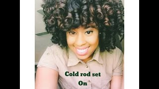 cold wave rod set on dry hair