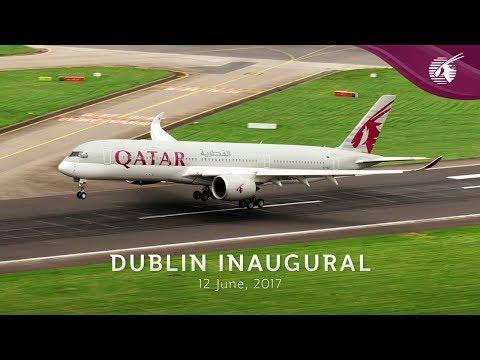 Qatar Airways Inaugural Flight to Dublin, Ireland