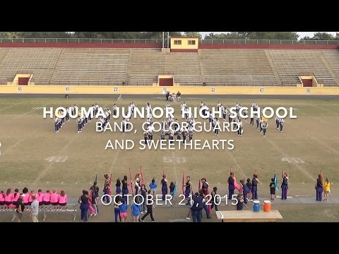 Houma Junior High School Band, Color Guard, and Sweethearts October 21st 2015