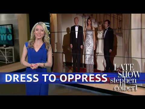 See Late Show Skit - The Red Carpet Outside The French State Dinner!