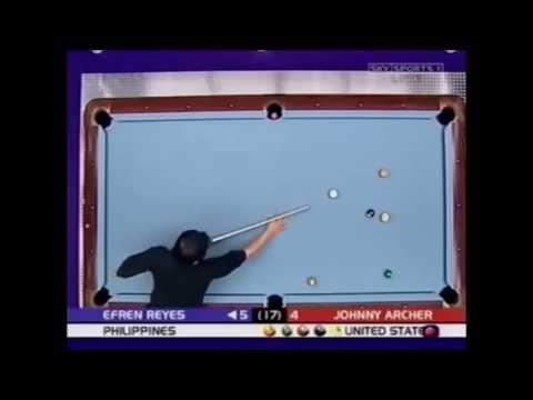 Efren Reyes vs Johnny Archer 2003 World Pool Championship