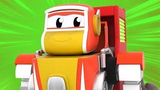 АВТО РОБОТЫ спасают ПЛАНЕТУ!   РобоСлияние - Супергерой спасает всех   Видео про машинки для детей