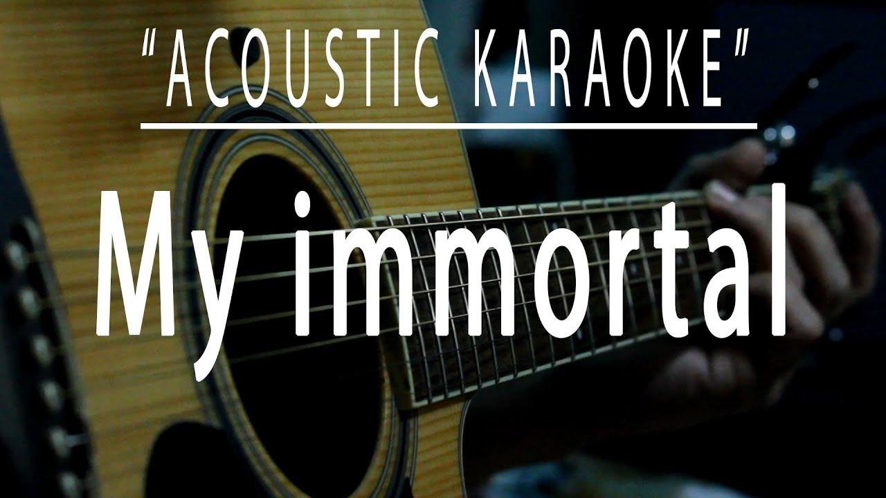 My immortal - Acoustic karaoke (Evanescence)