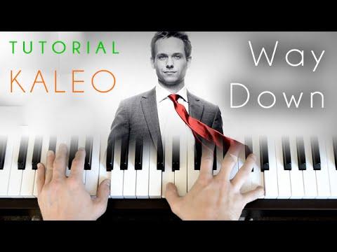 Kaleo - Way Down (piano tutorial)