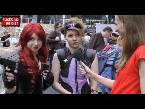 Black Widow & Hawkeye Avengers Cosplay Interview - 동영상