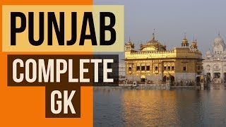 PUNJAB complete General Knowledge (Static) - Punjab PCS, SI PTET and other state exams