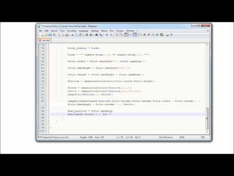 PHP Tutorial: How to Generate a UPC Barcode? Part: 2