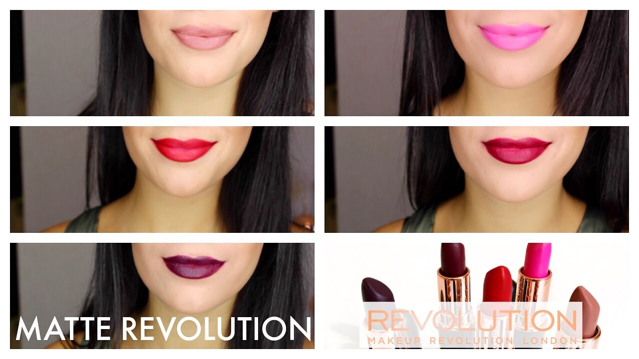 7c4a4b864 MATTE REVOLUTION LIPSTICK COLLECTION TRY ON - YouTube