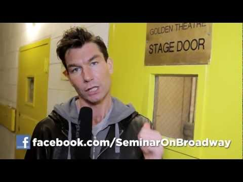 Take a Backstage Tour with Jerry O'Connell at Broadway's SEMINAR