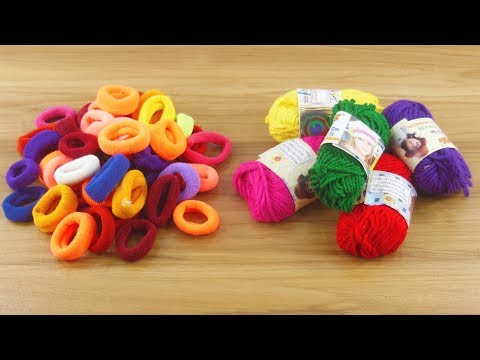 Hair rubber bands & Woolen Craft For Home decor  | DIY art and craft | DIY HOME DECO