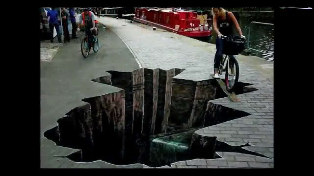 3d paiting on street, paintings on floor - YouTube