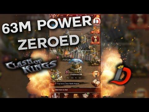 63M POWER PRESTIGE 5 CASTLE ZERO!! 1K LIKES AND 110M CASTLE IS NEXT (CLASH OF KINGS BETA)