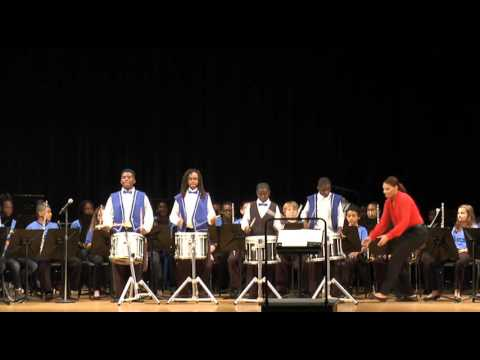 Lockhart Middle School Band Winter Concert Featuring Drum Line