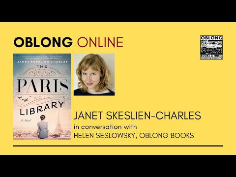 """Janet Skeslien Charles talks about her novel """"The Paris Library"""" with Oblong Books."""