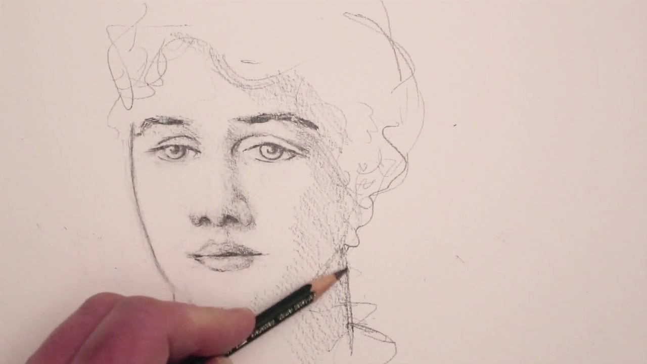 how to draw a female face youtube
