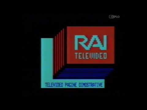 3/9/1988 - RaiUno - Inizio trasmissioni e pagine dimostrative Televideo