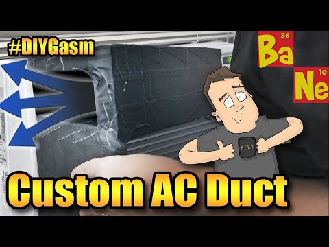 How to make a custom DIY air duct for your window AC