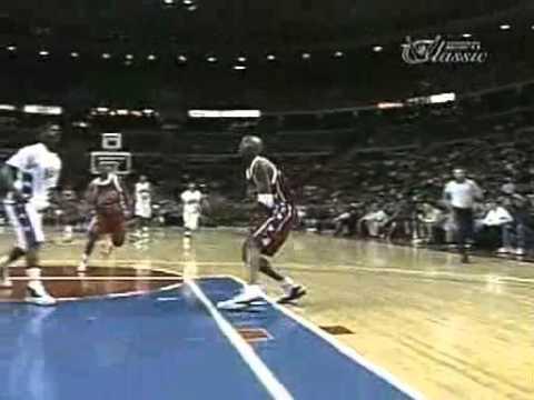 Kobe Bryant dunks on someone at the 1996 Roundball Classic