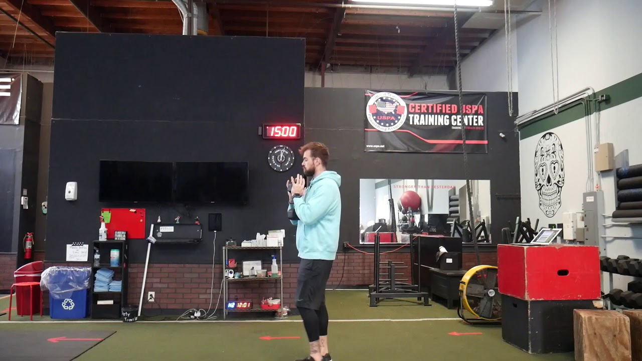 How to perform: Eccentric goblet squat