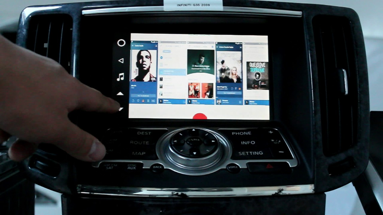 GROM VLINE Nissan Infiniti Android Infotainment System Google Maps Music  Apps Voice