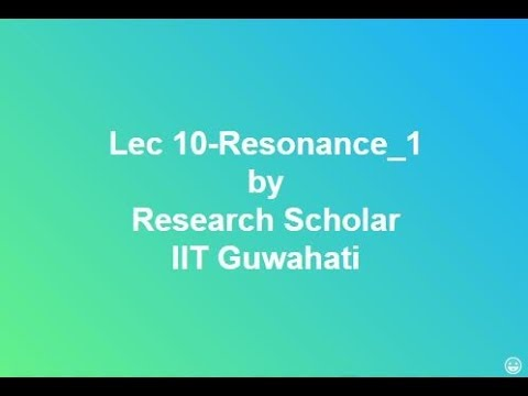 Lec 10-Series Resonance & Parallel Resonance part-1,Electrical Circuits/Networks