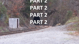 Part 2 Train passing through tight tunnel hits wall. Scary tunnel