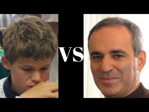 Amazing Chess Game: Magnus Carlsen vs Garry Kasparov : Reykjavik Rapid (2004) · Queen's Gambit