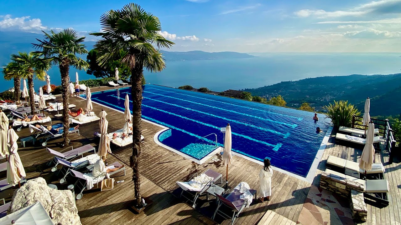 My first 4K UHD clip! Lefay Resort & Spa Lake Garda (Italy): PHENOMENAL views & pool!