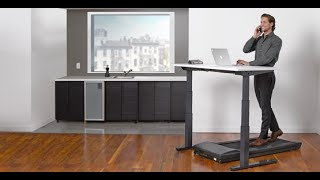 Underdesk treadmill with standing desk