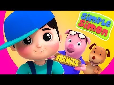 Simple Simon | Kindergarten Nursery Rhymes | Songs For Kids | Videos by Farmees
