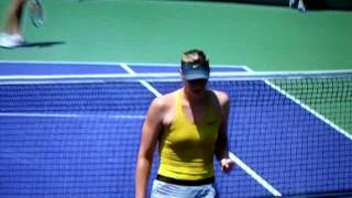 Maria Sharapova double bounce