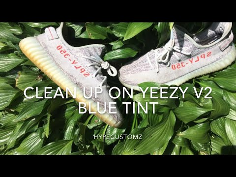 Clean Up On Yeezy V2 Blue Tints