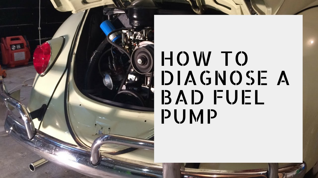 Diagnosing A Faulty Vw Fuel Pump Youtube 1978 Engine Diagram