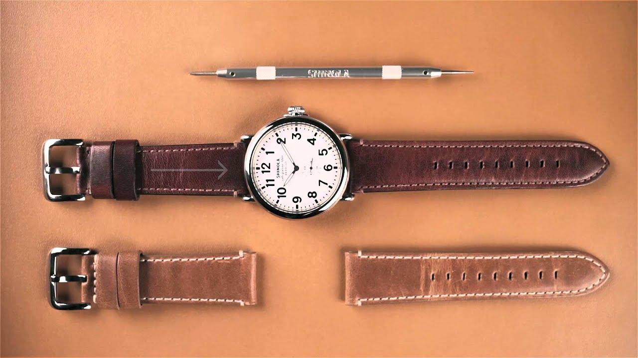 ff1463e86 Shinola How-To | Change A Shinola Watch Strap - YouTube