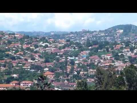 Kampala Uganda View of Makindye Kansanga and Ggaba from Muyenga