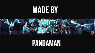 Top 5 Banners Of The Week l Fortnite Banner Templates l Channel Art l Photoshop CS6 l #3