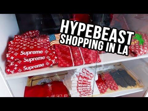 Hypebeast Shopping In Los Angeles (LA VLOG)