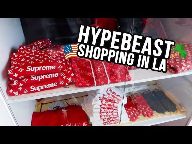 d18bc1063f Hypebeast Shopping In Los Angeles (LA VLOG) – Los Angeles Video ...