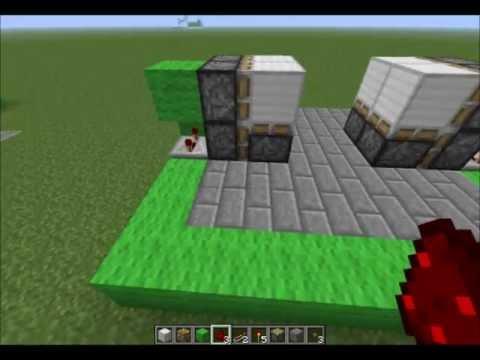 Minecraft tutorial de redstone puerta oculta en el for Puerta xor minecraft