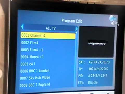 Xoro HD Satellite Receiver - Sort & Delete Channels