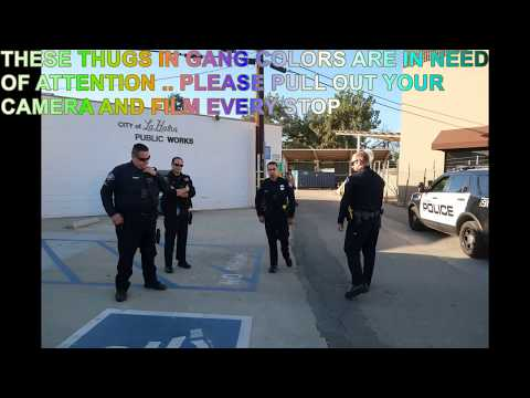 (ILL BE BACK )USPS LA HABRA HAS THE COPS TRESPASS WARN ME OFF THE PROPERTY 1ST AMENDMENT AUDIT