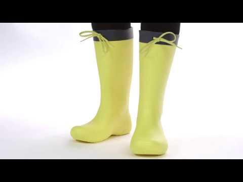 a8e122b0b2d Crocs Freesail Rain Boot Γαλότσες Γυναικείες 203541 1654156 - YouTube