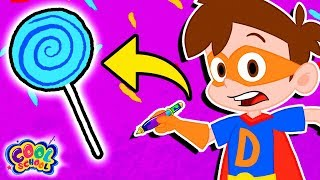 Who Stole the Candy? Drew Saves Candy ForestFind It Games | Cartoons for kids