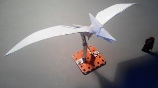 how to make paper pterodactyl dinosaur птеродактель из бумаги