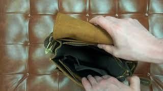 Обзор сумки через плечо Bexhill bx5836. Мужская винтажная сумка