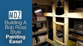 In this video I show you how I built my own custom art easel for Bob Ross style (wet on wet) oil painting. For $30 or less in materials,