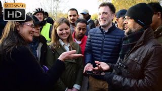 Video **A Must Watch!!!*** P1 - Many Questions! Hashim vs Christian Lady | Speakers Corner | Hyde Park download MP3, 3GP, MP4, WEBM, AVI, FLV November 2017